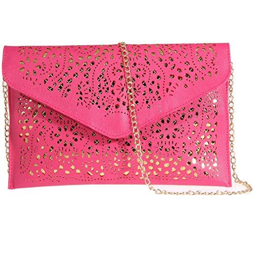 Evening Envelope Shoulder Floral Foil Leather Clutch Bolsa Lady Purse Envelope Red Handbag Women Rose Bag Bag zzngBqr8
