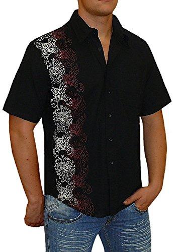 Puntas Hombre Tiempo Libre Tribal Manga Corta Camisa s & Lu Talla M a XXL Blanco Weiß: Amazon.es: Ropa y accesorios