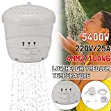 Electric Water Heater - Instant Hot Shower Head - Bath Nozzle +Hose Bracket - Adjustable Temperature - for Home Use(110V)