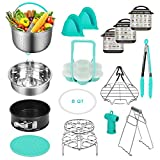 Accessories for Instant Pot Compatible with 6,8 Qt, Ninja Foodi 8qt - Stainless Steel Steamer Basket, Springform Pan, Egg Steamer Rack, Silicon Egg Bites Mold and More