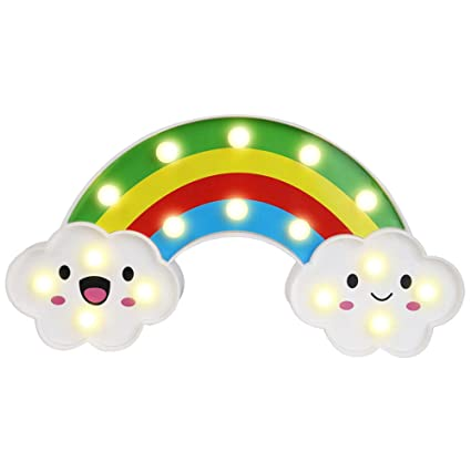 Cute Rainbow Led Night Light Home Kids Bedroom Indoor Lighting Decor Lamp Wide Selection; Lights & Lighting Led Night Lights