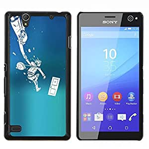 LECELL--Funda protectora / Cubierta / Piel For Sony Xperia C4 -- Empuje Monster --