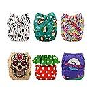 Alva Baby Reuseable Washable Pocket Cloth Diapers 6PCS + 12 inserts (Girl Color), Gift Set 6DM22