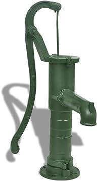 vidaXL Bomba de Agua Manual para Jardín Patio Terraza de Hierro Fundido Verde: Amazon.es: Bricolaje y herramientas