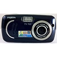 Fujida FX700 7MP and 4X Digital Zoom Ultra Slim Stylish Digital Camera Blue