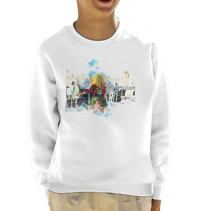 TV Times Cyndi Lauper HMS Ark Royal Navy Ship 1986 Kids Sweatshirt: Amazon.es: Ropa y accesorios