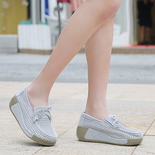 Tennis Sport Marche Sneakers Baskets Compensée Chaussures Chaussons Plateforme Running Femmes Daim de Fitness Wn4gpXH