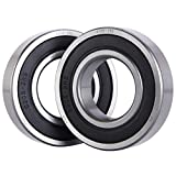 XiKe 2 Pack 6208-2RS Bearings 40x80x18mm, Stable Performance and Cost-Effective, Double Seal and Pre-Lubricated, Deep Groove Ball Bearings.