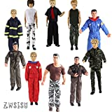 ken doll clothes and accessories - ZWSISU 5-Piece Ken Clothes for 10-Piece Boy Doll