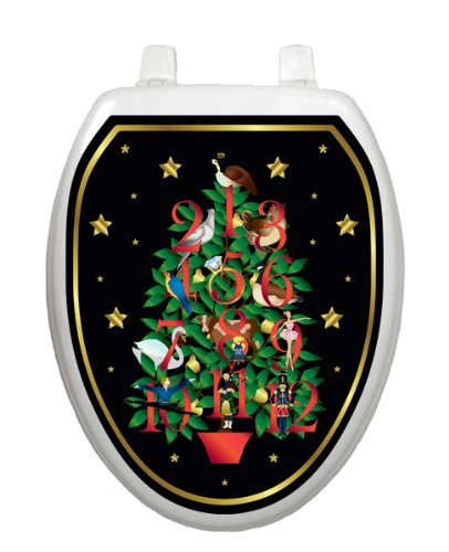 Twelve Days of Christmas Toilet Tattoo TT-X620-O Elongated Winter Holiday by Toilet Tattoo