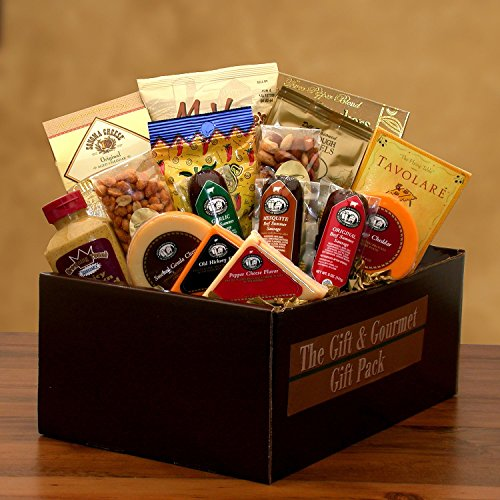(Savory Selections Cheese & Meat Gourmet Gift Pack - Great Gift for Birthdays, Holidays, or Any Occasion)