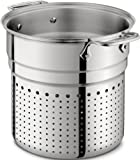 All-Clad 37072-I D Stainless Steel Tri-Ply Dishwasher Safe 7-Quart Pasta Colander Insert / Cookware, Silver