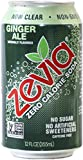 Zevia All Natural Soda, Ginger Ale, 12-Ounce Cans (Pack of 24)