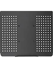 WALI Laptop Holder Tray for 1 Notebook up to 17 inch, Mount Compatible with VESA 100 mm, 22 lbs Capacity with Vented Cooling Platform Stand (MLP01)