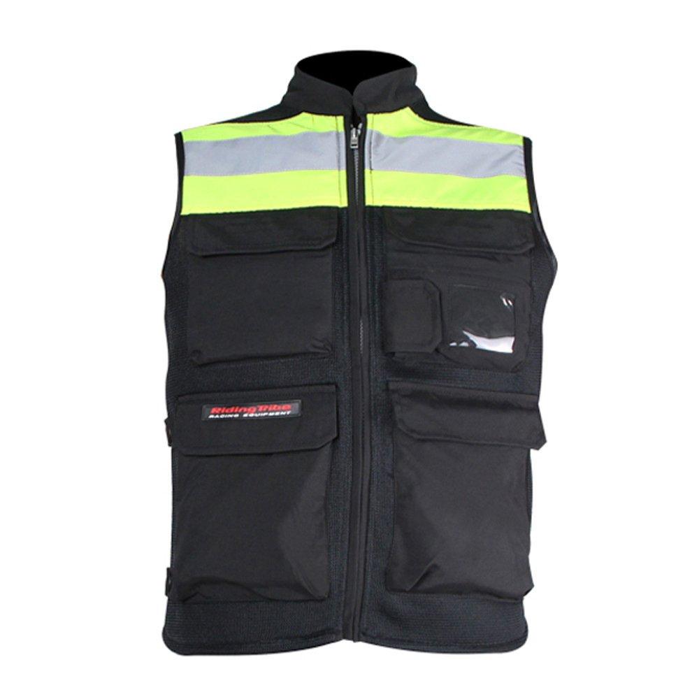 LKN, giacca da moto in tessuto armour, catarifrangente A030014-05-green-3XL