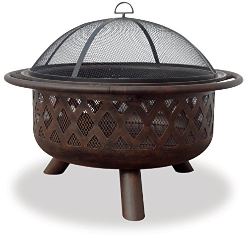 (Uniflame Endless Summer, WAD792SP, Bronze Crossweave Firebowl Fire Pit Outdoor Firepit)