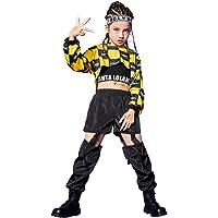 3 Piezas de Ropa de Hip Hop para niñas, Traje de Baile Callejero, Sudadera con Capucha Recortada, Camiseta sin Mangas…