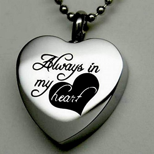 Always-in-My-Heart-Cremation-Jewelry-Silver-Urn-Necklace-Pendant-Memorial-Keepsake-By-Maymii