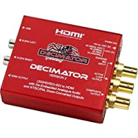 Decimator Version 2 Simultaneously Scales SDI to Both HDMI and NTSC/PAL with De-Embedded Analogue Audio