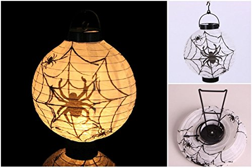 1 Pcs Paradisiacal Popular Halloween LED Nightlight Paper Lantern Xmas Tree Scary Bright Style Spider Color (Halloween Silly Symphony)