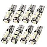 8 Pcs Canbus W5W T10 5050 9-SMD LED White Car Light Bulb Lamp DC 12V
