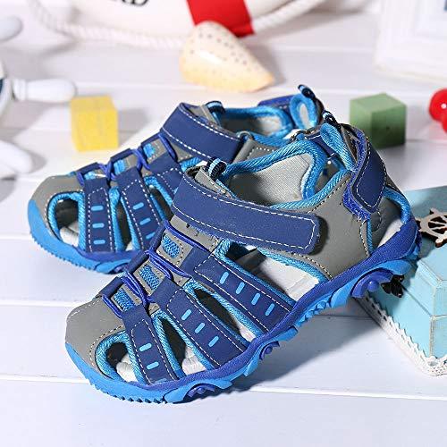 Sneaker Velcro Sandali Confortevole Spiaggia Bambina Sportive Morbido Scarpe Moda honestyi Blu Bambini Principessa Elegante Fondo Estivi Per Punta Chiusa Unisex AArZq8xwT