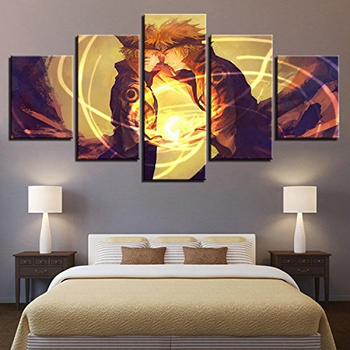 Canvas Paintings Home Decor Living Room Wall Art 5 Pieces Naruto Pictures HD Prints Cartoon Anime Characters Posters (Naruto Cartoon Character)