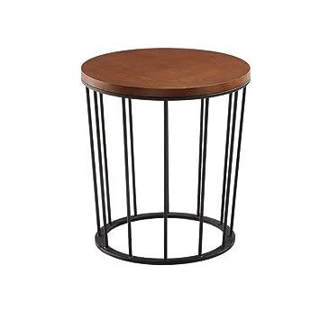 QIN PING GUO Salon Table en Fer forgé, Petite Table à Manger Noire ...