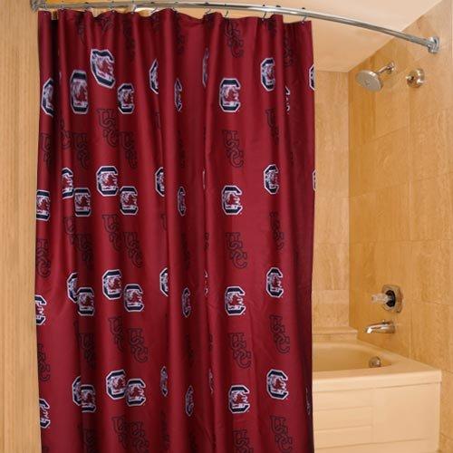 NCAA South Carolina Gamecocks 72'' x 70'' Garnet Collegiate Shower Curtain (Carolina Gamecocks South Shower Curtain)