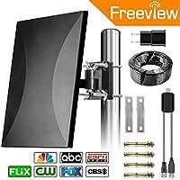 Outdoor HDTV TV Antenna, 2018 New Version ! Orfilar 120-160 Mile Range Indoor/Outdoor 4K TV Antenna Directional Detachable Antenna Signal Booster FM/VHF/UHF
