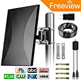 Outdoor TV Antenna, 2018 NEW VERSION ! Orfilar 120-160 Mile Range Indoor/Outdoor 4K TV Antenna with Directional Detachable Antenna Signal Booster for FM/VHF/UHF