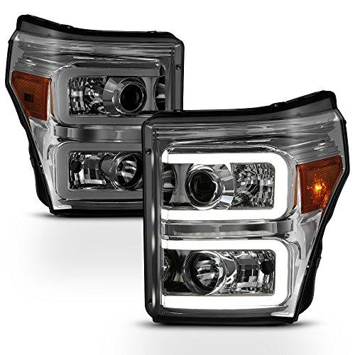 ACANII - For Smoke 2011-2016 Ford F250 F350 F450 Super Duty LED DRL Tube Headlamps Headlights Driver + Passenger Side ()