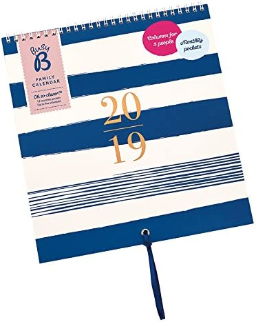 Busy B - Calendario Per La Famiglia 2019 Motivo Contemporaneo