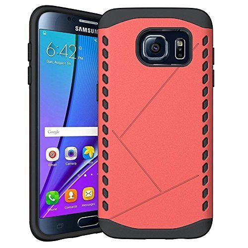 Galaxy S7 Edge case, MOACC Shock Absorbent Sheild [Red] [Dual Layer Armor] Hybrid Hard PC Defender Rugged Shockproof Protective Bumper for Samsung Galaxy S7 Edge