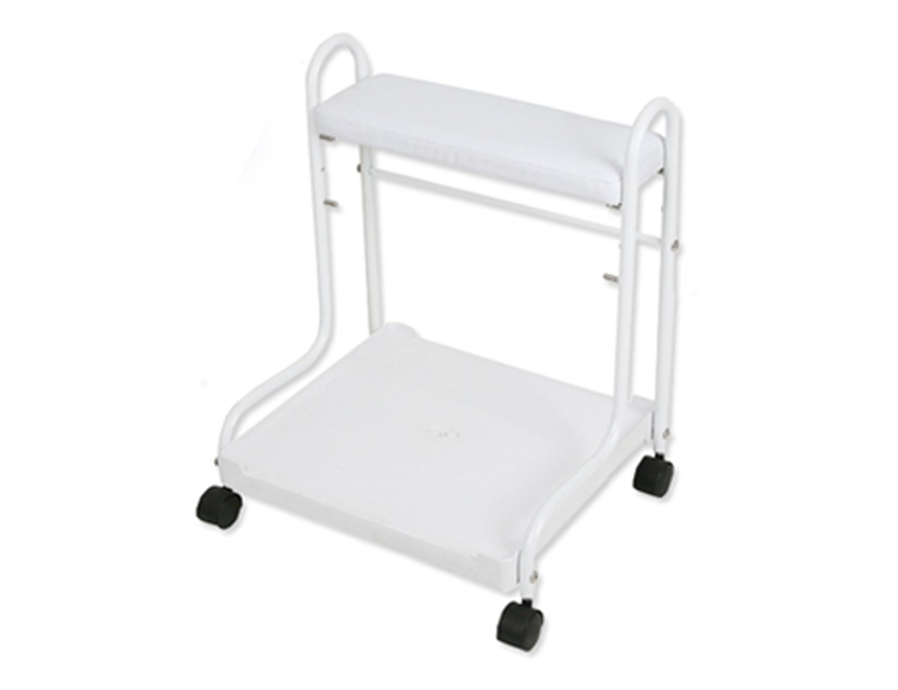 Beauty Salon Rolling Trolley Storage Cart Foot Bath Shop Special Two Color Optional Elitzia ETST22 (White)