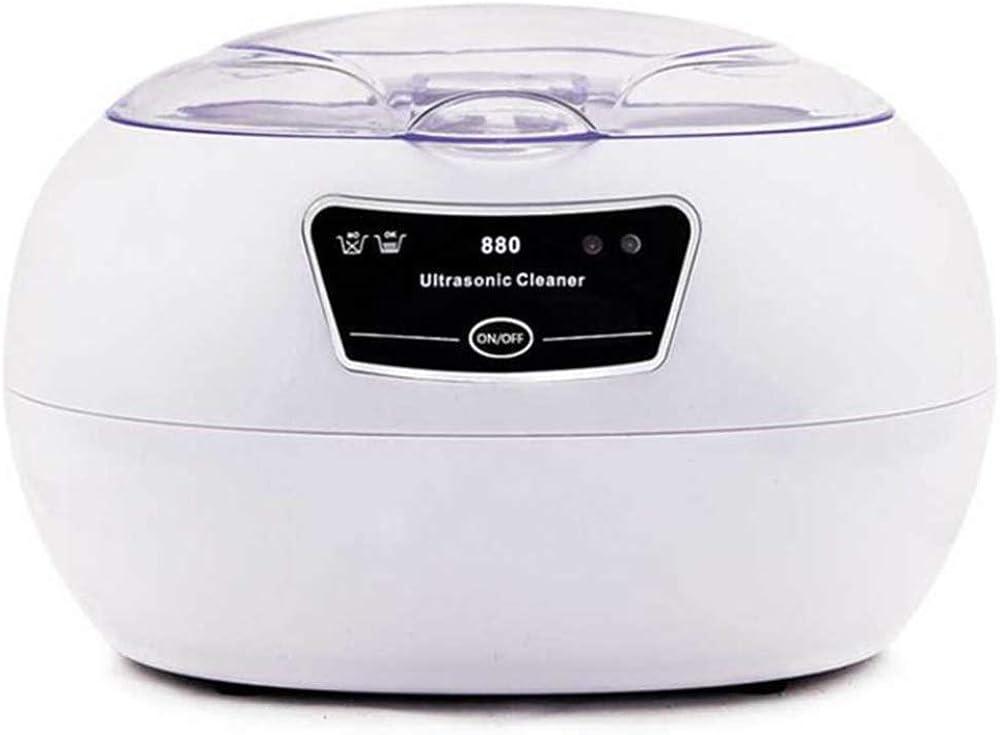 Pequeña Lavadora ultrasónica para el hogar, 600 ml-42KHZ-3 Minutos de Limpieza, Utilizada para Lavar los vidrios Aparatos Invisibles Dentadura de la joyería Limpiador de Sonido