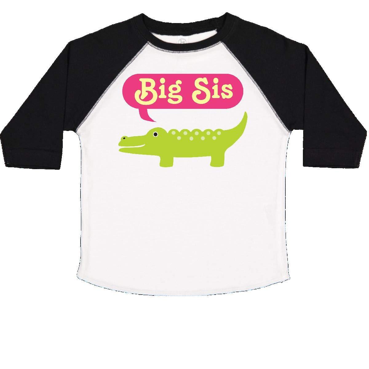 inktastic Big Sis Alligator Girls Sister Announcement Toddler T-Shirt