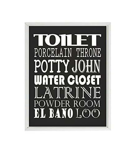 Amazon.com: Bathroom Wall Art, Toilet, Potty, Powder Room ...