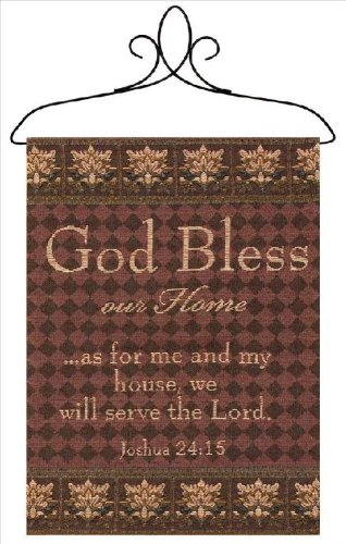 Manual Inspirational Collection Wall Hanging with Frame, God Bless Our Home, 12.5 X 18-Inch by Manual Woodworker