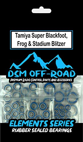 Tamiya Frog, Super Blackfoot, Bear Hawk, Stadium Blitzer, Subaru Brat, Sand Scorcher, Rough Rider, Super Champ, Bush Devil, Blitzer Beetle, Bearing Kit Set (12 Bearings)