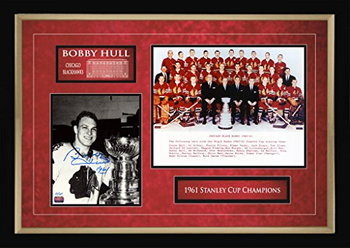 Autographed Bobby Hull 1961 Stanley Cup - Double Photo - Limited Edition of 61 ()