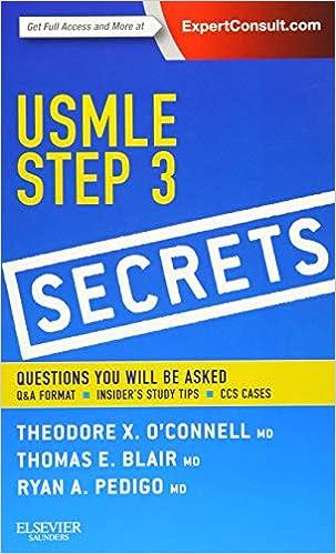 USMLE Step 3 Secrets: 9781455753994: Medicine & Health Science Books
