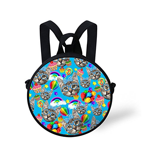 Print Bag Round Cute Bag Women Girls Casual and FancyPrint DFGC0365I Shoulder 5xw7w