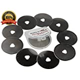 45mm Rotary Cutter Blades (PACK OF 10) SKS-7 Carbide Tool Steel, Fits Fiskars, Olfa, Truecut. Perfect blade for Fabric, Quilting, and Sewing projects