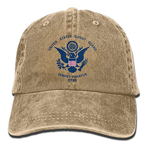 Coast Guard Flags Adjustable Washed Twill Baseball Cap Dad Hat