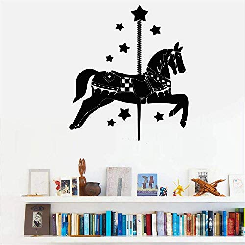Wall Decal Sticker Art Mural Home Decor Manège Carousel House with Stars -