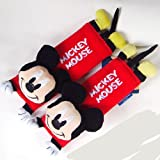 disney baby car seat covers - Disney Mickey Mouse Design Multi Use Auto Car seat belt cover Plush Seat Shoulder Pad Cushion 2 pcs One Pair