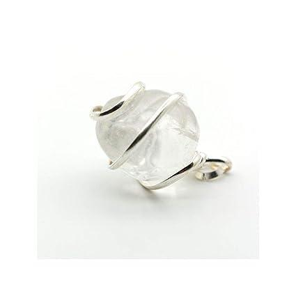 diseño de calidad e8418 08730 Mineral Import - Colgante Cuarzo Transparente en Espiral Baño Plata 925 -  3219VC
