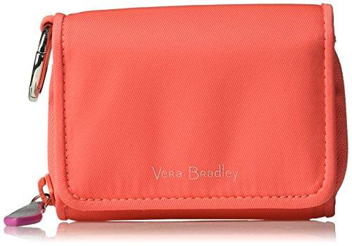 Vera Bradley Midtown Rfid Card Case, Coral Reef