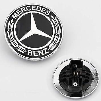 /75/mm Black//Silver//Laurel//AMG Radnabenabdeckungen Hub Covers Original Mercedes-Benz /& AMG Mercedes Benz Wheel Centre Diameter 74/